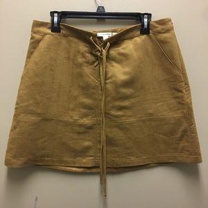 Suede Tie Front Lauren Conrad Skirt